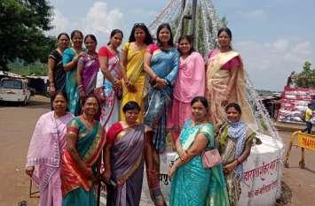 आदिवासी महिला संगठन ने मनाया राजा शंकर शाह एवं रघुनाथ शाह का बलिदान दिवस