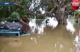 बाढ़ ने चंबल के लोगों की बढ़ाई मुसीबत