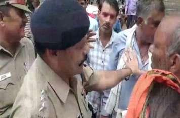 बीजेपी नेता से अपनी परेशानी सुनाने आया किसान, पुलिस ने मारे थप्पड़