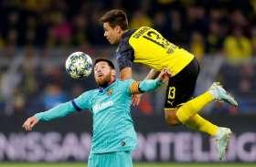 यूरोपीय चैम्पियंस लीगः बार्सिलोना-डॉर्टमंड के बीच मैच ड्रॉ