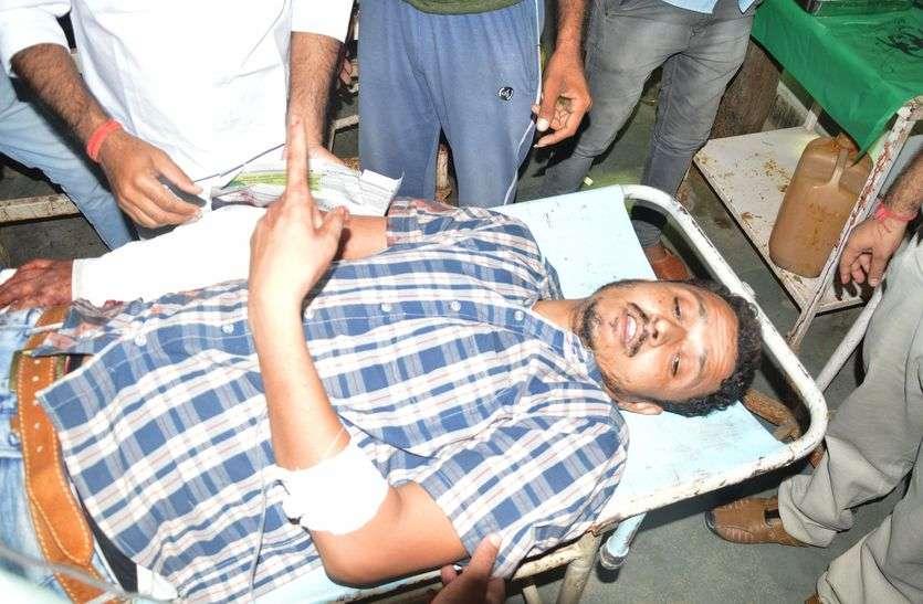 ठेका लूटकर भाग रहे बदमाशों ने युवक को मारी गोली, गंभीर हालत में जयपुर रेफर