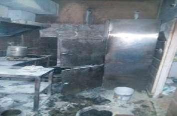 77 छात्रों की जान थी खतरे में, हॉस्टल मैस में गैस लीकेज, सिलेंडर भभका ,कर्मचारी झुलसा..