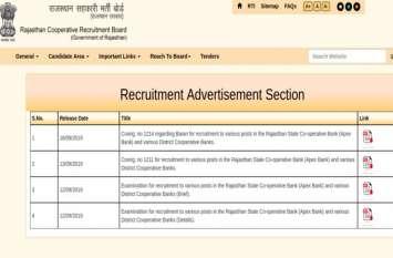राजस्थान सहकारी बैंक भर्ती 2019: किसी भी विषय में स्नातक उत्तीर्ण युवा कर सकते हैं आवेदन, जानें पूरी प्रक्रिया