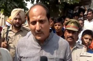 मृतकों के परिजनों से मिलने पहुंचे कैबिनेट मंत्री सुरेश राणा, परिवार का दिया आश्वासन- देखें वीडियो