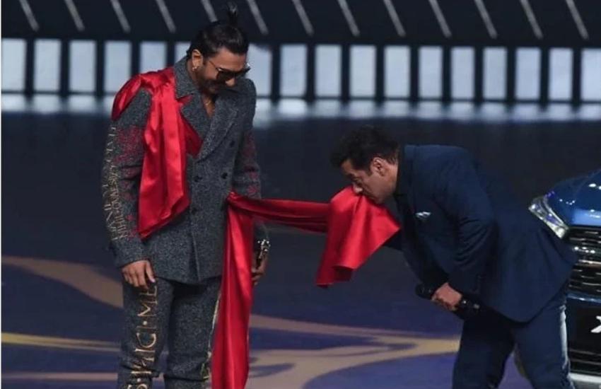 IIFA 2019: रणवीर की अजीबोगरीब ड्रेस देख सलमान को सूझी मस्ती, स्टेज पर सरेआम कर डाली ऐसी हरकत, नहीं रोक पाएंगे हंसी