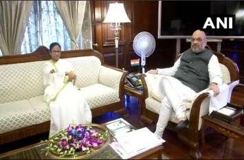 गृहमंत्री अमित शाह से मिलीं पश्चिम बंगाल की CMममता बनर्जी, NRC मुद्दों पर हुई चर्चा