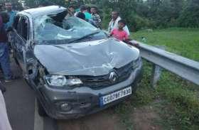 Breaking:सियादेवी से पिकनिक मनाकर रहे लौट रहे भिलाई के युवकों की कार दुर्घटनाग्रस्त, कार में ही फंसे रहे, एक गंभीर अन्य को मालूमी चोट