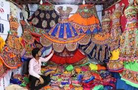 Navratra news : पद्मावत की घूमर वाली चणिया-चोली बनी आकर्षण का केन्द्र