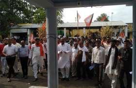 चारों विधानसभा में भाजपा ने किया आंदोलन