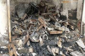 अलवर के बानसूर में गैस एजेन्सी मे आग से हुआ लाखों का नुकसान, सामने आई यह बड़ी लापरवाही