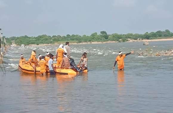 बीसलपुर के पास बनास में बहे युवक का पांच दिन बाद भी नही मिला कोई सुराग
