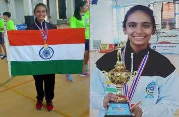 राजस्थान के किसान की बेटी अंजली ने सेस्टोबॉल में थाईलैंड को तीन राउंड में हराकर भारत के लिए जीता रजत पदक