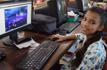 पत्रिकाकर्मियों की बेटियों ने पिता के साथ कार्यालय में बिताए पल देखे तस्वीरों में