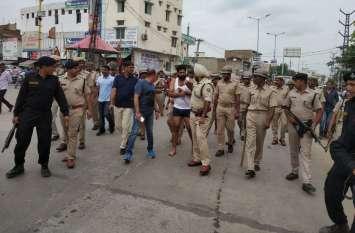 पपला गुर्जर को थाने से भगाने वाले बदमाशों का भरे बाजार में निकाला जुलुस, अब तक 20 गिरफ्तार