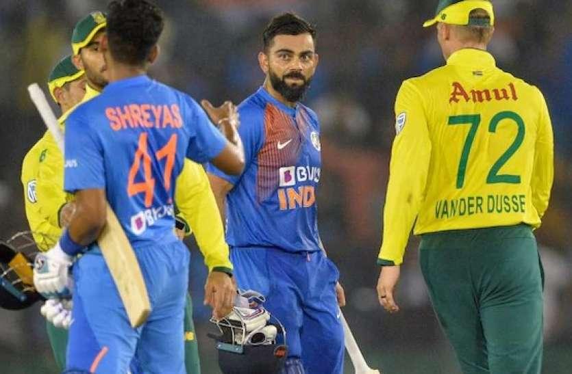 भारत और दक्षिण अफ्रीका के बीच तीसरा टी20 आज, मेहमान टीम पर सिर्फ बराबरी का मौका