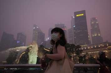 सिंगापुर में खतरनाक स्तर पर पहुंचा वायु प्रदूषण