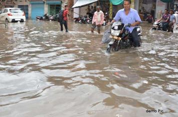 राजस्थान : मौसम विभाग के अलर्ट के बाद अचानक यहां बदला मौसम, जमकर हुई मूसलाधार बारिश