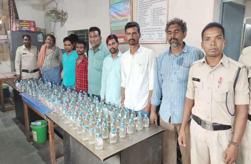 शराब कोचियों पर बरपा जूटमिल पुलिस का कहर, 149 पाव शराब जब्त
