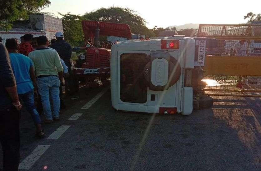 बोलरो-ट्रेक्टर दुर्घटना में पांच घायल
