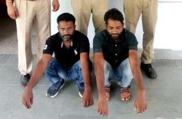 मंदिर से दानपात्र तोडऩे के आरोपी रिमाण्ड पर, पुलिस ने बाइक भी की जब्त
