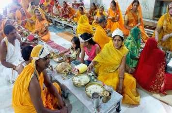 शांतिनाथ दिगम्बर जैन मंदिर में शांति मण्डल विधान का आयोजन