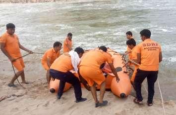 सात दिन बाद भी बीसलपुर के पास बनास में बहे युवक का नही लगा कोई सुराग, एसडीआरएफ की टीम लौटी वापस
