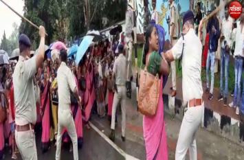 Video: BJP राज में आंगनबाड़ी सेविकाओं पर लाठी चार्ज,CM आवास का कर रही थीं घेराव