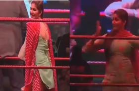 अचानक WWE रिंग में ठुमके लगाते हुए सामने आया 'सपना चौधरी' का शानदार Dance वीडियो, सोशल मीडिया पर हो रहा VIRAL