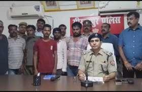 लाखों की अवैध शराब के साथ पकड़े गये छह तस्कर, हरियाणा से बिहार भेजी जा रही थी शराब