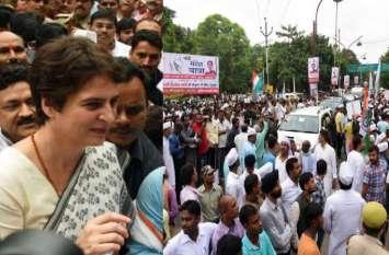 गांधी जयंती पर प्रियंका की गांधीगिरी, मौन पदयात्रा से बढ़ा रहीं यूपी का सियासी तापमान