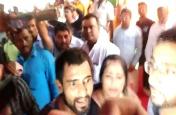 BJP ऑफिस बना रणक्षेत्र, पार्टी नेता के खिलाफ प्रदर्शन कर रहे लोगों को पीटा
