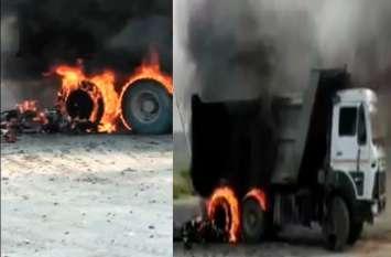 बाइक-ट्रक की भिड़ंत से हुआ जबरदस्त विस्फोट, इतने लोगों की हुई मौत, शवों के उड़ परखच्चे
