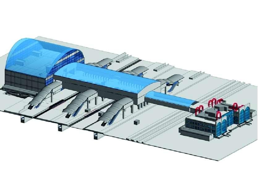 एयरपोर्ट की तर्ज पर हबीबगंज स्टेशन पर बन रहा है एयर कॉनकोर्स