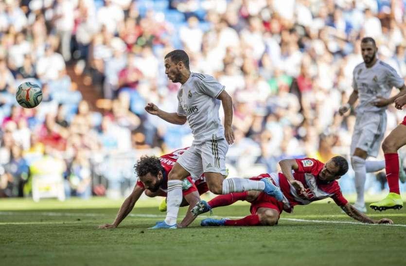 स्पेनिश लीगः रियल मेड्रिड ने ग्रनाडा को 4-2 से दी शिकस्त