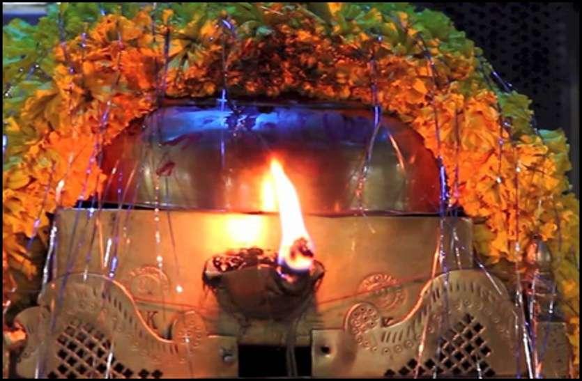 durgapuri mata temple burning flame in sheopur at madhya pradesh
