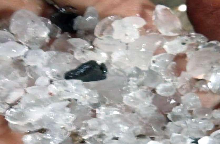 शुजालपुर और कालापीपल में आसमान से गिरी सफेद आफत, ये होगा नुकसान