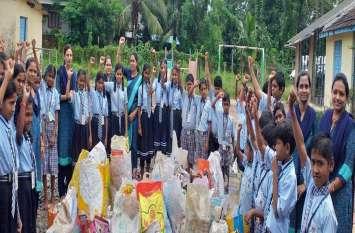 #single use plastic; स्कूली बच्चों ने ऐसा क्या किया कि हर कोई कर उठा वाह-वाह