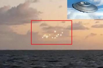 समुद्र के बीच आसमान में दिखी ऐसी रोशनी, लोग बोले-एलियंस के विमान हैं ये