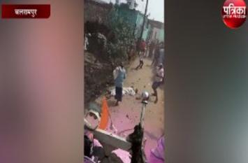मूर्ति विसर्जन के दौरान पत्थरबाजी, जुलूस से भाग खड़े हुए पुलिस, हादसे के बाद भारी पुलिस बल तैनात