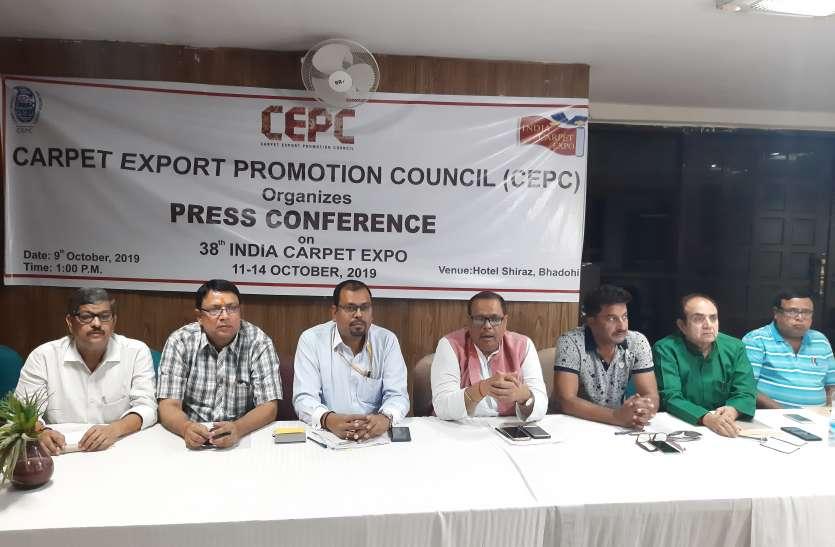 वाराणसी में 11 अक्टूबर से शुरू होने वाले इंडिया कार्पेट एक्सपो की तैयारी पूरी