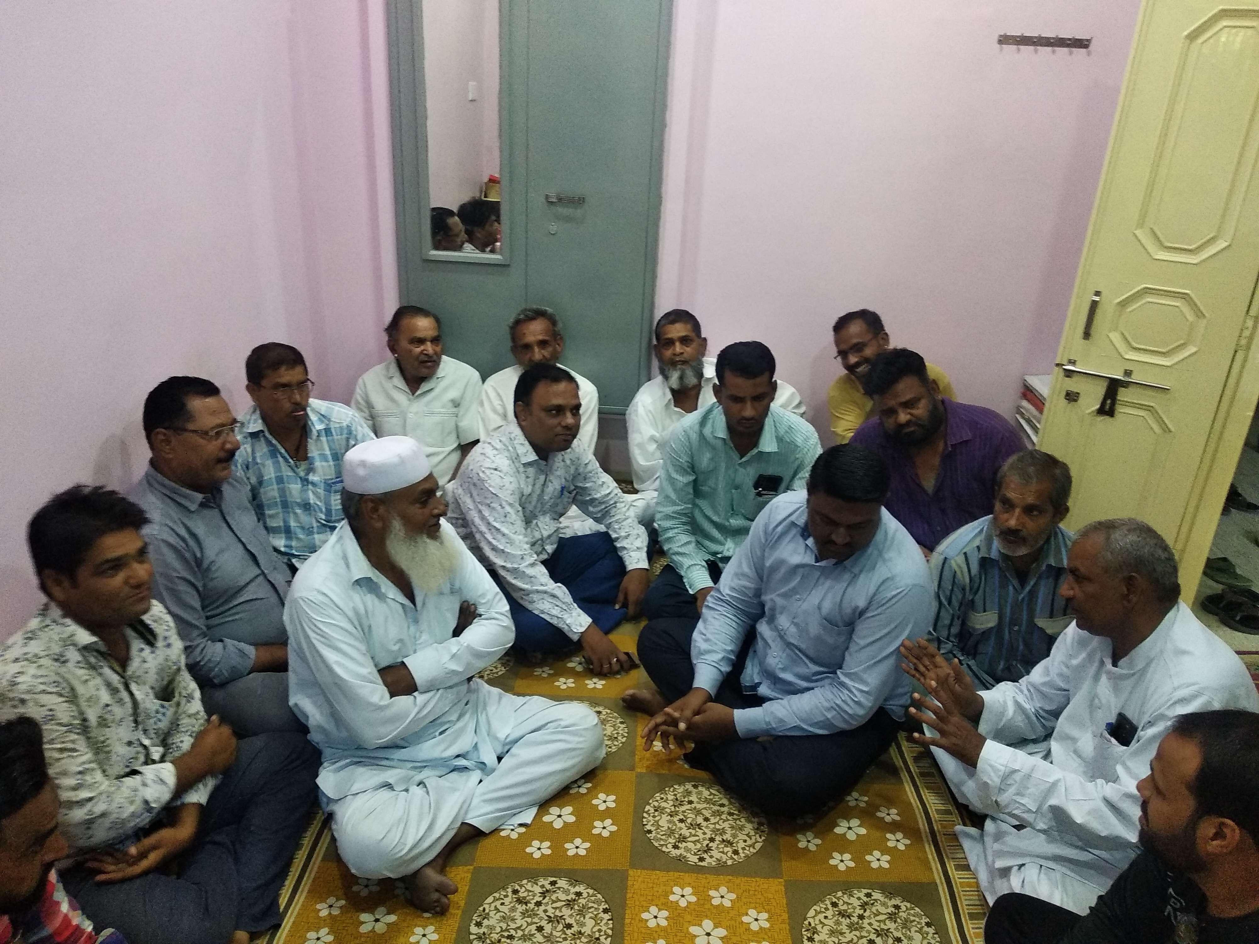 changemaker ward swaraj meeting in ward no. 34 and 64  bikaner