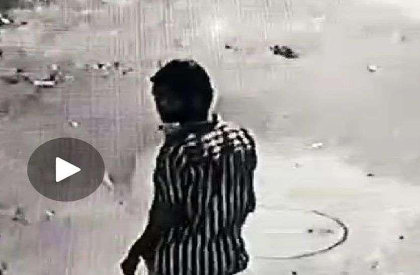 नवरात्री में माता का जागरण देखने आई मासूम बालिका से सडक़ किनारे किया बलात्कार, CCTV में कैद हुई वारदात