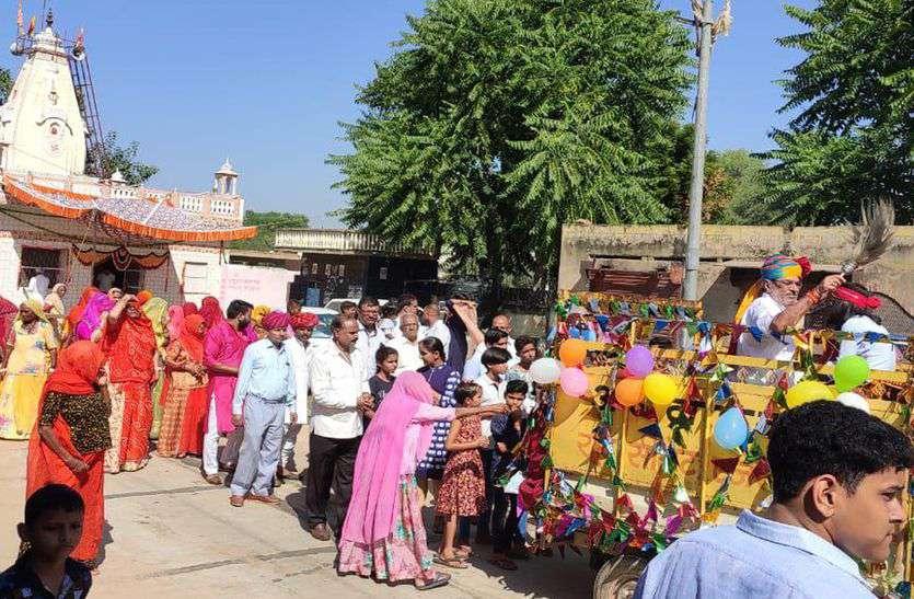 जोरावर नगर में श्री जगदम्बा माताजी का मनाया पाटोत्सव