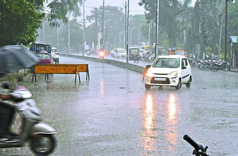 शाम को शहर में झमाझम बारिश आंकड़ा70 इंच, रावटी रहा आगे