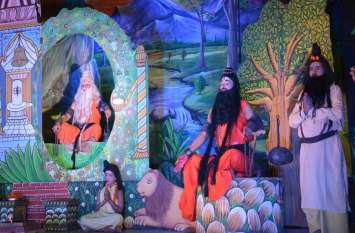 अलवर के प्रसिद्ध महाराजा भर्तृहरि नाटक का मंचन शुरु, गुरु गोरखनाथ के जयकारों से गूंजा रंगमंच