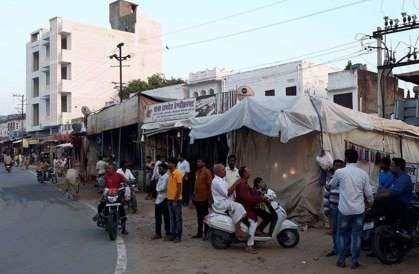 पुष्कर में सरकारी जमीन पर दुकानें बना कर रहे अवैध किराया वसूली