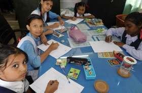 फिलाटेली दिवस पर आधा सैकड़ा स्कूली बच्चों ने उकेरी चित्रकारी