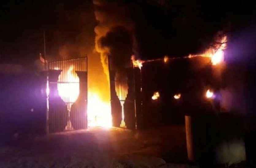 सीवर ट्रीटमेंट प्लांट में लगी आग, ट्रैक्टर-फ्लोरी जलकर नष्ट हुए