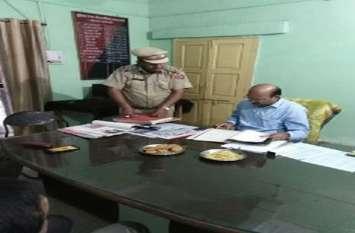 alwar letest newsकोटकासिम थाने का निरीक्षण, महिला सुरक्षा के दिए निर्देश