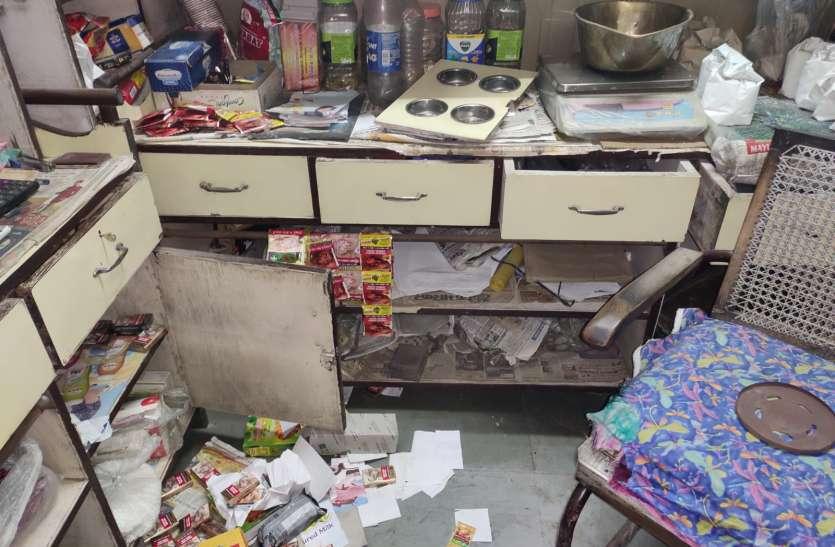 किराने की दुकान का ताला तोड़कर चोरी